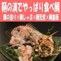 【☆鞆の浦でやっぱり食べ鯛☆】鯛の造り×鯛しゃぶ×鯛荒煮×鯛釜飯