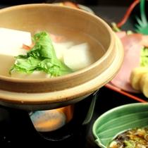 朝食-尾瀬豆腐の湯豆腐
