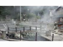 天然記念物源泉「麻釜」おがま