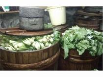 例年11月中旬の野沢菜漬込み