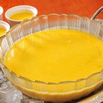 地元産かぼちゃで作ったパンプキンスープ