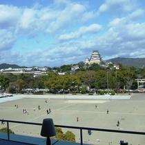 ★ミレ(レストラン)から見える姫路城