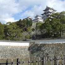 ★濠から望む姫路城