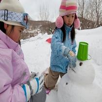 冬のアクティビティ 【雪だるま】