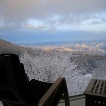 skyloungeからの雪景色