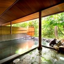 【天然温泉】露天風呂で山間の空気をおもいっきり・・