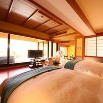 ■バリアフリー【露天風呂付客室】ツインベッドルーム