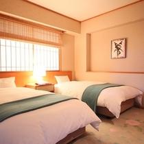 ◇【バリアフリー温泉付特別室】ツインベッドルーム