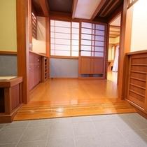 ■バリアフリー【和室10畳+ツインルーム露天風呂付】入口