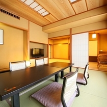 ■【和室8畳+6畳露天風呂付】
