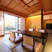 ◇【バリアフリー露天風呂付和室10畳+ツインR】和室10畳の様子