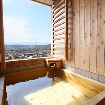 ◇【眺望室】お部屋の半露天風呂からアルプスを望む