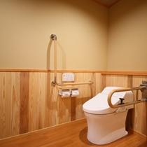 ◇【バリアフリー温泉付特別室】洗浄機付きトイレ。