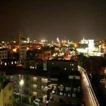 屋上から眺めた夜景