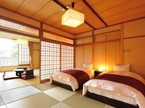 【二間客室】和室12畳+10畳ベッドルーム