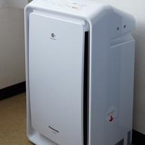 加湿機能付空気清浄機 全客室に設置しております