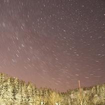 旭岳・冬の星空