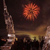 【東川氷祭り】冬の夜空を彩る盛大な花火