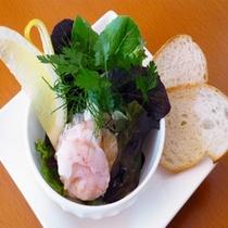旬の食材を使った料理長特製の創作一品料理をご用意、写真はイメージです。