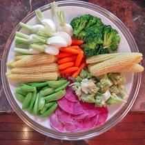 お料理一例《東川町近郊から届いた採りたて野菜》
