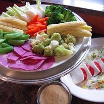 お料理一例《採りたて野菜のサラダ》