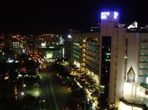 ホテル上階からの夜景(県庁側)