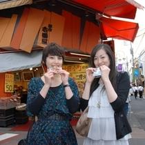 鎌倉観光 小町通り せんべい屋