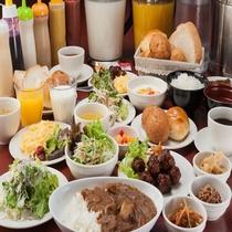 【和洋食ブッフェ】6:30~9:30ホテル2階ラウンジにてご用意しております。1食500円です。