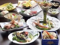 旬の食材をふんだんに使った贅沢な「関門春会席」