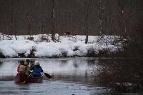 冬季カヌー