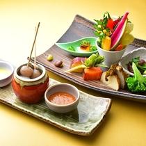 △前菜(夕食一例)