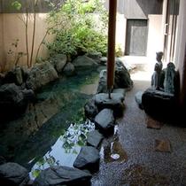 貸切風呂の露天風呂