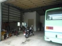 車庫【バイク置き場にどうぞ】