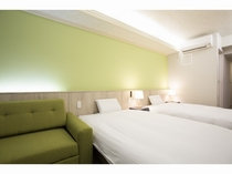 リラックスツインルーム+ソファー【24㎡】※トリプルルームの場合、1台ソファーベッド利用になります