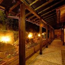 野天風呂「蘭若の湯」入口通路