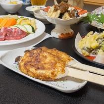 *【食事/五平餅】夕食時には名物「五平餅」をお出しします。美味しいと評判です♪