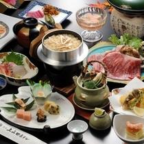 【松茸4品と牛すき焼きのお料理コース】一例