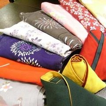 ◆露天風呂付客室にお泊りの女性のお客様は色浴衣をお選びいただけます(無料貸出し)