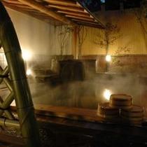 ◇≪男性用露天風呂≫ 夜の雰囲気