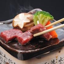 長野県産牛の陶板焼き