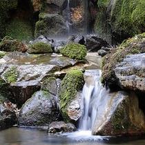 ■ロビーから見た滝