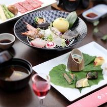 """量を控えた""""一汁三菜料理""""(イメージ)"""