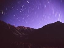 河童橋より見る上高地の満天の星空