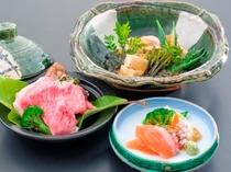 伝統野菜を使った和風会席料理・信州牛朴葉蒸し