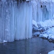 *周辺/湯川渓谷の氷壁は一見の価値あり!アイスクライミング、写真撮影で遠方から来られる方も。