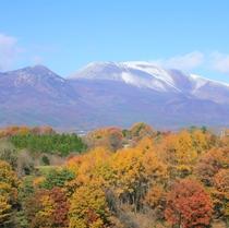 浅間山と紅葉