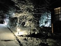 場内雪景色
