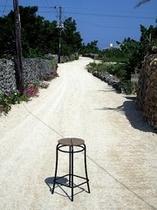 竹富島 サンゴの敷き詰められた道