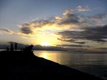 竹富島 西桟橋からの夕日