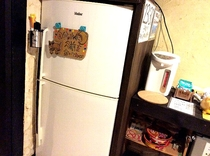 お客様専用冷蔵庫、宿泊者誰もがご利用できます。
